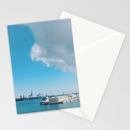 Spain's Port of Las Palmas on a Sunny and Bright Blue Day Stationery Cards