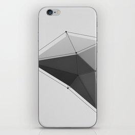 White Polygon iPhone Skin