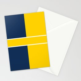 TEAM COLORS 6....navy , gold Stationery Cards