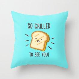 Cheesy Greetings! Throw Pillow
