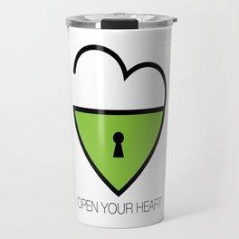 Open Your Heart Travel Mug