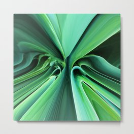 526 - Abstract plant design Metal Print