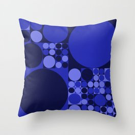 Squared Circles Throw Pillow