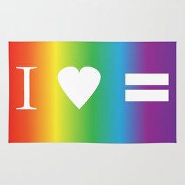 I heart Equality Rug
