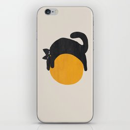 Cat with ball iPhone Skin