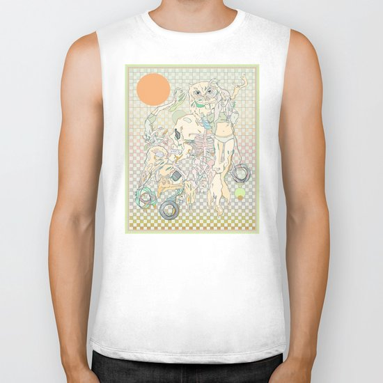 decay, cream & color  Biker Tank