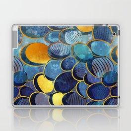Abstract deep blue Laptop & iPad Skin