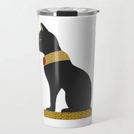 Bastet statue, Egyptian gods Travel Mug