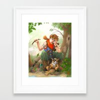 camp Framed Art Prints featuring camp by Fargon