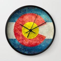 Coloradan State Flag Wall Clock