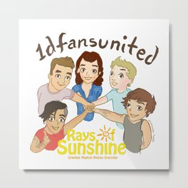 1D fans united to raise money for Rays of Sunshine! Metal Print