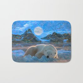 Just Chilling and Dreaming (Polar Bear) Bath Mat