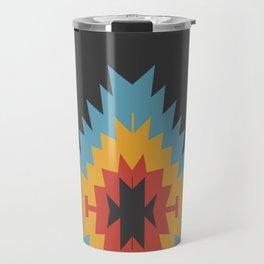 Santa Fe Southwestern Native Navajo Indian Tribal Geometric Pattern Travel Mug