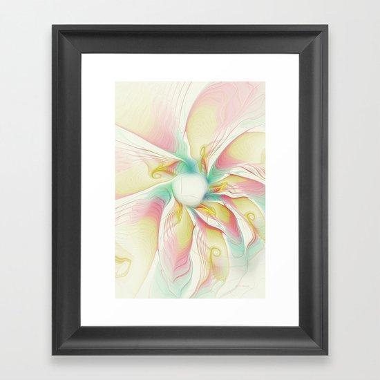 Pastel Flower Framed Art Print