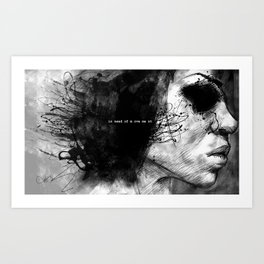 in need of movement Art Print