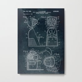 1948 - Fruit juice extractor patent art Metal Print
