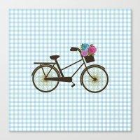 bike Canvas Prints featuring Bike by Juliana Zimmermann