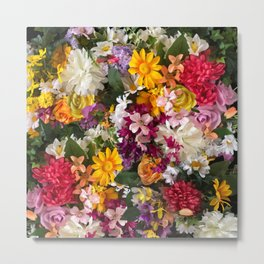 Cottage Flower Wall Metal Print