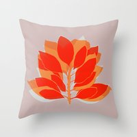 spice Throw Pillows featuring Blossom Spice by Garima Dhawan