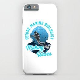 Cute Future Marine Biologist Making Waves Pun iPhone Case