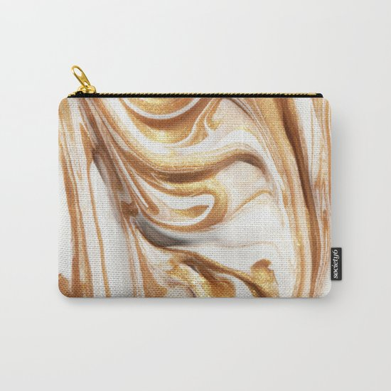 MARBLE CREAM Carry-All Pouch