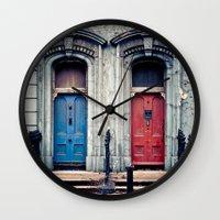 doors Wall Clocks featuring The Doors by unaciertamirada