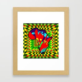 Colorful African Checkered Abstract Print Framed Art Print