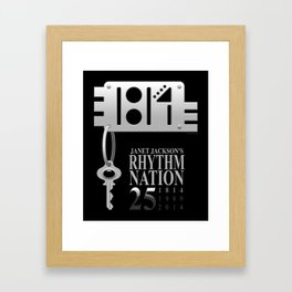 Rhythm Nation's 25th anniversary Framed Art Print