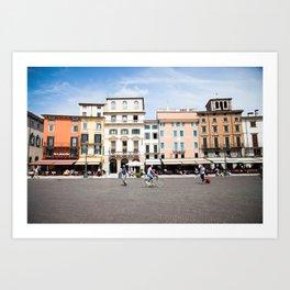 Bike Through Verona Art Print