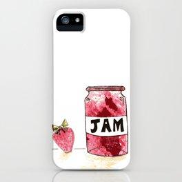 Strawberry VS Jam iPhone Case