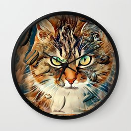 Cats Popart by Nico Bielow Wall Clock