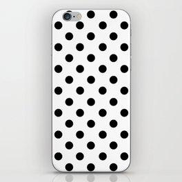Polka Dots (Black & White Pattern) iPhone Skin