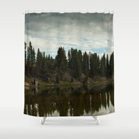 country Shower Curtains featuring Country  by Julia Lake Art Designs
