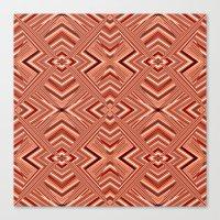 orange pattern Canvas Prints featuring Pattern orange by Christine baessler