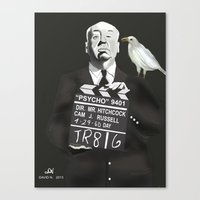 hitchcock Canvas Prints featuring Hitchcock by Dano77