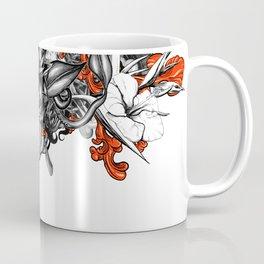 Flower Power White Coffee Mug