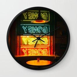 neon nights Wall Clock