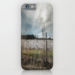 Florida Cotton Fields  iPhone Case