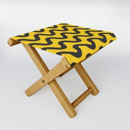 Yellow Ripple Folding Stool