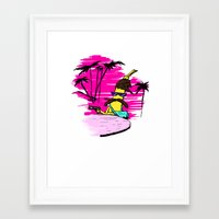 scarface Framed Art Prints featuring Scarface BANANA by Dario Di Donato