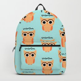 UnibrOwl   Funny Unibrow Eyebrows Owl Illustration Backpack