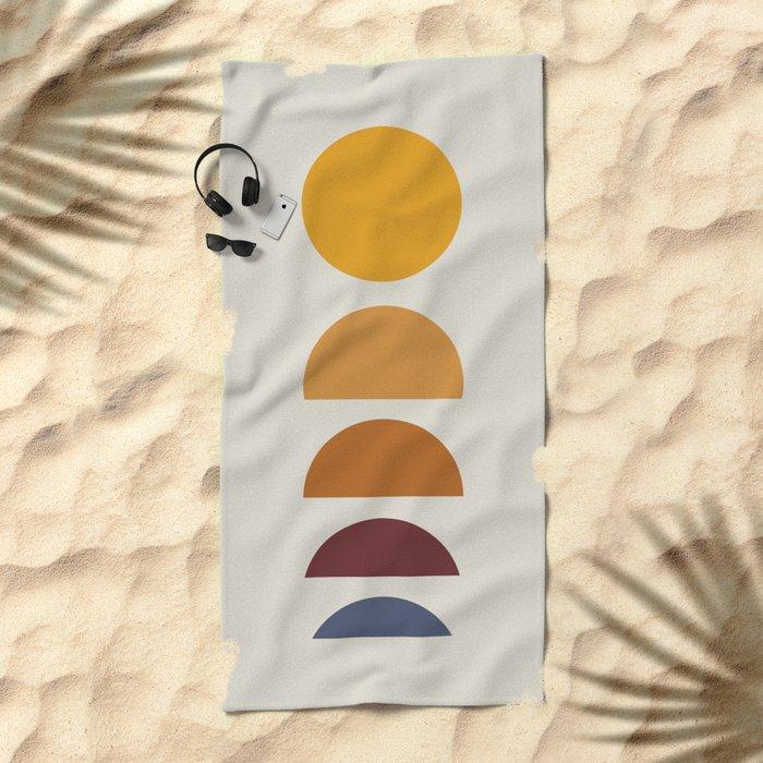 Minimal Sunrise / Sunset Beach Towel