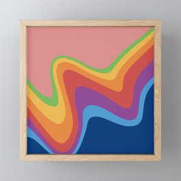 Curves rainbow pattern Framed Mini Art Print