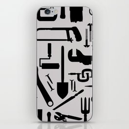 Tools silhouettes iPhone Skin