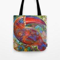 toucan Tote Bags featuring Toucan by oxana zaika