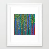 carnival Framed Art Prints featuring Carnival by Lindel Caine