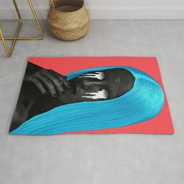 small upside down triangle Rug