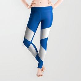 Blue and White Scottish Flag Leggings