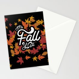 It's fall y'all Stationery Cards