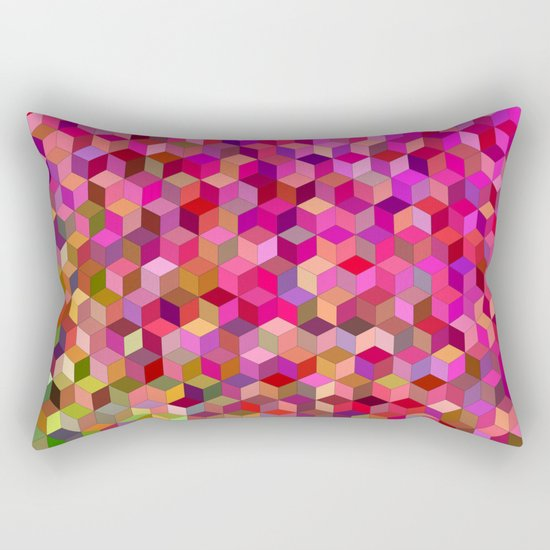 Girly cube structure Rectangular Pillow